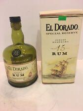 VINTAGE EL DORADO SPECIAL RESERVE 15YEARS EMPTY RUM BOTTLE