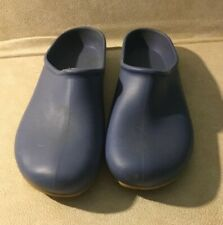 Women's blue rubber sloggers garden clogs (waterproof)- Size 10. Preowned.