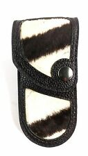 REAL GENUINE ZEBRA SKIN knife sheath buck 110, case 6265 Handmade BUCKTOOL