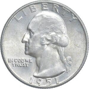 Unc BU MS 1951-D - US Washington 90% Silver Quarter Coin Set Break *631