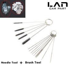 For Honda Carburetor Carbon Dirt Jet Remove Cleaning Tool Kit 10 Needle + Brush