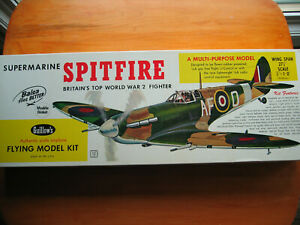 Vintage 1961 Guillow's Britain's WW2 Submarine Spitfire Flying Model Kit 403