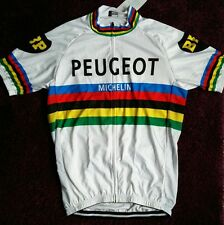 World champ peugeot Michelin cycle cycling jersey retro vintage NWT medium large