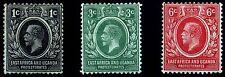 East Africa & Uganda. 1912. 1d~6d. SC# 40,41,42. SG 44,45,46. MLH