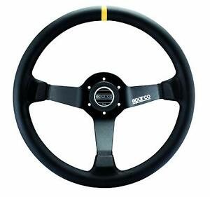 Sparco 015R345MLN Steering Wheel 345 Black Leather 350MM