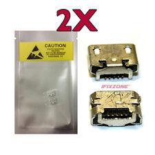2 x New Micro USB Charging Sync Port LG EnV2 EnV3 Cosmos Rhythm Optimus V USA
