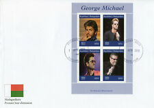 Madagascar 2019 FDC George Michael 4v M/S Cover Music Celebrities People Stamps