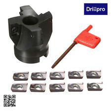 400R -50MM-22 4Flute Face End Mill Flat Cutter + 10 APMT1604 Inserts + T spanner