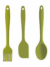 Colourworks 3 teiliges Mini Set Silikon grün, Kitchen Craft