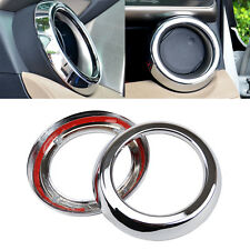 Fit For 13- Toyota RAV4 Chrome Front Air Vent Outlet Dashboard Cover Trim Frame
