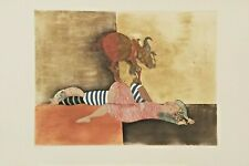 "G. Rodo Boulanger ""Enfants et Chevre"" original etching art"