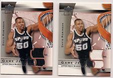 Lot of (2) 2003-04 Sweet Shot Jersey Cards #DRJ David Robinson 1 White & 1 Black