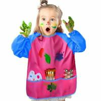 WATERPROOF KIDS DRAWING SMOCK LONG SLEEVE ART PAINTING CRAFTS APRON WITH POCKETS