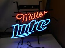"Vintage 2007 - MILLER LITE BEER - NEON-  SIGN -BAR -20"" x 12""  Works w Switch"