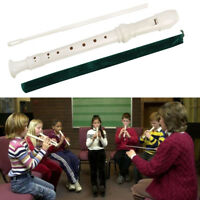 8 Holes Soprano Recorder Flute Woodwind Instrument w/ Cleaning Rod for Student