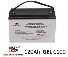 12V 120Ah Gel - Reine Bleigel Batterie Akku- USV Boot Wohnmobil Caravan C100