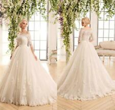 Two Pieces Detachable Bodice A-Line Lace Wedding Dresses Bridal Gowns
