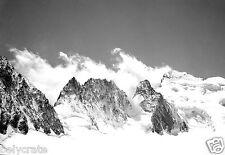 Paysage de montagnes Alpes neige - Tirage d'après négatif photo ancien deb. XXe