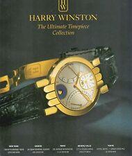 ▬► PUBLICITE ADVERTISING AD MONTRE WATCH HARRY WINSTON  1992