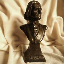 Antique Piano Composer Liszt Bronze Portrait Statue Sculpt Figure Vienna Hungary