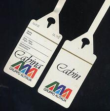 1 Alitalia ATI AERMEDITERRANEA '87 etichetta bagaglio tag airline memorabilia ax