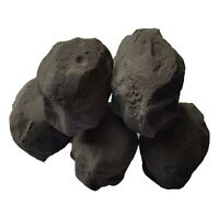 10 Large Cast Coals for Gas Fires/Living Flame Fire Black by Fire Brand Direct