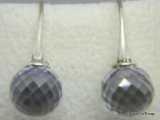 NEW AUTHENTIC PANDORA EARRINGS MORNING DEW LAVENDER#290552LCZ