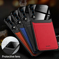 For Samsung Galaxy Note 10 Plus Leather Shockproof Protective Glass Case Cover