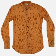 Saint Laurent Paris 1 of 1 Orange Silk Mini Polka Dot Sh | Size S FW16 RRP $990