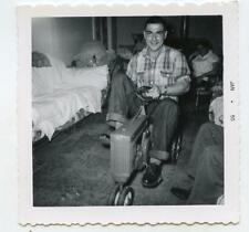 Grown Man Riding On Kid's Toy Pedal Tractor Vtg 1955 Photo