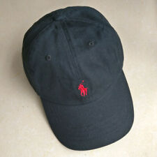 Black Polo Men Embroidered Pony Cotton Chino Baseball Cap Spring Run Outdoor Hat