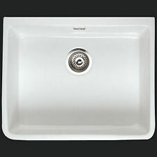 white Belfast butler Kitchen Sink  Waste  Rak Ceramics White go 2 595 475 225