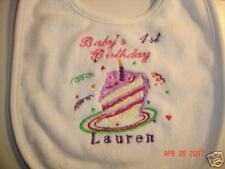 Embroidered Baby BIB - BABY'S 1ST BDAY **LOOK**