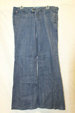 Parasuco Womens 8Audrey Wide Leg Dark Wash Jeans Size 32 Excellent Used Cond