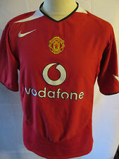 Manchester United 2004-2006 Home Football Shirt Size Large Red Devils