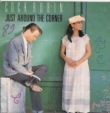 """45 TOURS / 7"""" SINGLE--COCK ROBIN--JUST AROUND THE CORNER / OPEN BOOK--1987"""