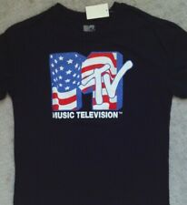 MTV Flag T Shirt_ Size Large_ New with Tags_ Licensed Merchandise