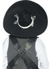 AUTHENTIC MEXICAN BANDIT HAT MENS LADIES BLACK SOMBRERO HAT