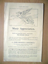 LIGHT, MORE LIGHT- Music Appreciation by Manchester Royal Institution, 1914-15