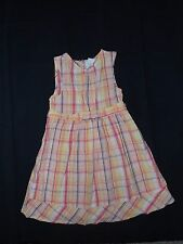 Toddler Girls CRAZY 8 Orange and Yellow Plaid Boutique Dress Size 4