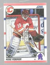 1990-91 Score Mike Vernon 52 Calgary Flames Hockey Card