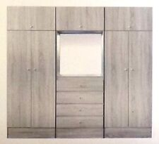 New 3 Wardrobe Assembled/cupboard/drawers/Hanging space, Shelves/ Grey or Black