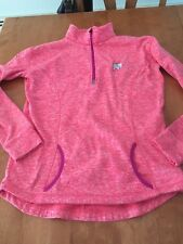 Ella Ivory Pullover Zip Sweatshirt Womens Large EUC hot Pink Purple