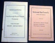 1907 NEW YORK CITY IRT SUBWAY EPHEMERA RAILROAD TRANSPORTATION HISTORY