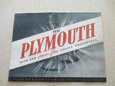 Original 1952 Plymouth Cranbrook Cambridge & Concord cars promotional brochure