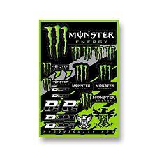 D'COR Monster Energy Decal Sheet Vinyls Livery Dirt Bike Sticker Pack MX