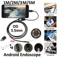 6LED 5.5 mm Android endoscope caméra d'inspection USB étan LTA