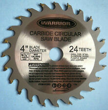 "Carbide Tipped Circular Saw Blade 4"" Diameter 24 Teeth 1/2"" Arbor Hole New"