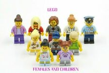10 NEW LEGO FEMALE & CHILDREN MINIFIGURES BOY GIRL CITY TOWN