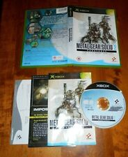 METAL GEAR SOLID 2 SUBSTANCE XBOX ORIGINAL COMPLETE DISC IS SCRATCH FREE